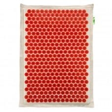 Тибетский массажер-аппликатор Кузнецова красный с магнитами на мягкой подложке 41 х 60 см