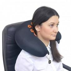 Тибетский массажер-аппликатор Кузнецова мягкий валик для шеи желтый с магнитами дорожный