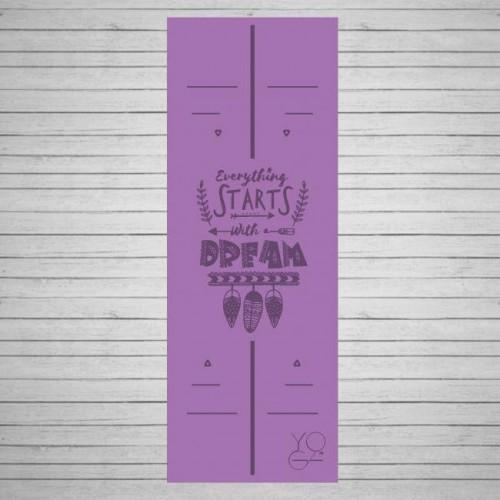 Коврик для йоги Dream (Мечта) Yoga ID из каучука 4,5 мм