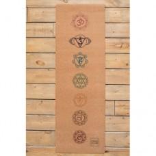 Коврик для йоги Chakras Yoga Club с пробковым покрытием